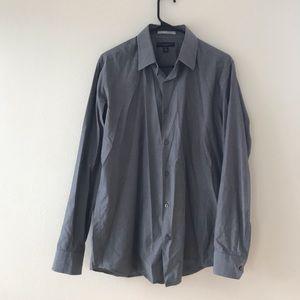 Banana Republic Mens Gray Dress Shirt